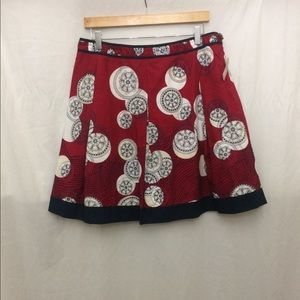 Talbots Red Pattern Skirt